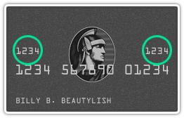 American Express CVV example