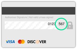 Visa CVV Example