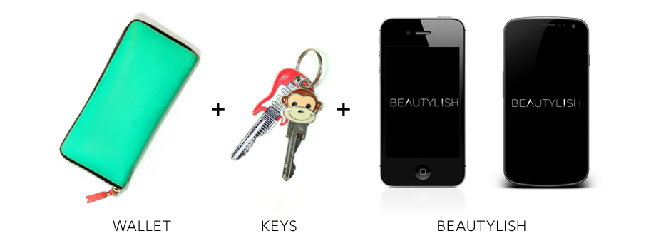 Beautylish App - When leaving home don't forget your wallet, keys and the Beautylish iPhone App!